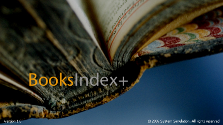 shows an image of a book spine with the words books index plus